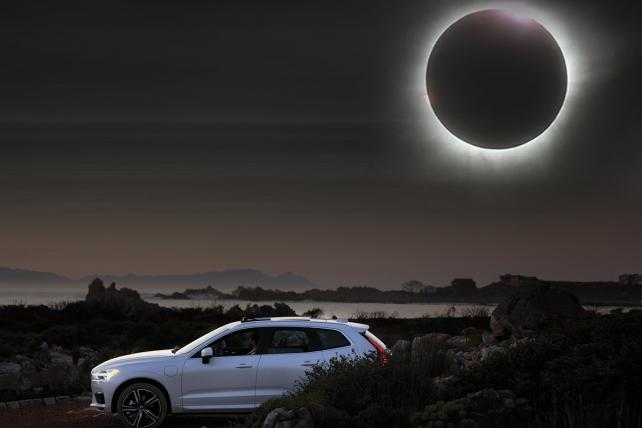 Volvo Moonroof Eclipse Viewer éclipse totale
