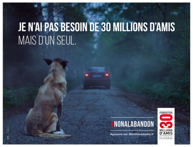 Campagne 30 Millions d'Amis 2016
